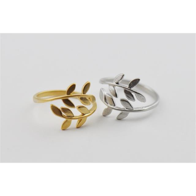 nastavljivi prstani lovorov venec laurel leaf adjustable rings